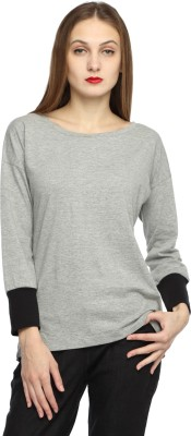 Corrida Full Sleeve Solid Women's Sweatshirt