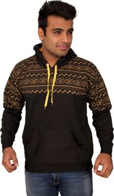 Black Chip Full Sleeve Printed Men's Sweatshirt