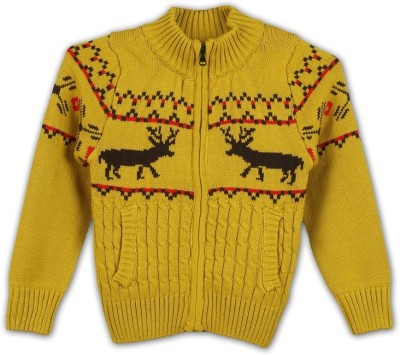 Lilliput Full Sleeve Self Design Boy's Sweatshirt