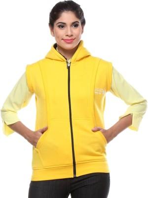 TeeMoods Sleeveless Solid Women's Sweatshirt