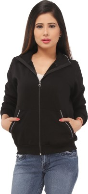 Run of luck Full Sleeve Solid Women's Sweatshirt