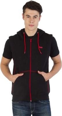 Fila Sleeveless Self Design Men's Sweatshirt