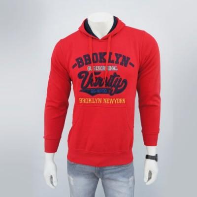 Zocab Full Sleeve Embroidered Men's Sweatshirt