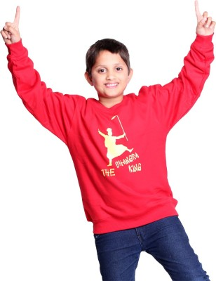 Clotone Full Sleeve Printed Boys Reversible Sweatshirt