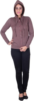 Melzo Full Sleeve Solid Women's Sweatshirt
