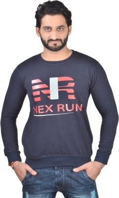 Nex Run Full Sleeve Printed Men's Sweatshirt