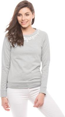 Shuffle Full Sleeve Solid Women's Sweatshirt