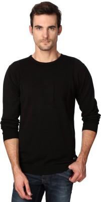 Van Heusen Self Design Round Neck Party Men's Black Sweater
