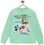 Yk Full Sleeve Printed Girls Sweatshirt