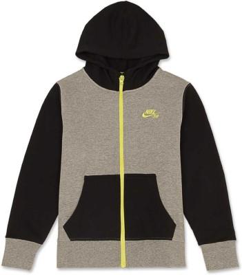 Nike Kids Full Sleeve Solid Boy's Sweatshirt