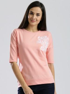 Dressberry Half Sleeve Self Design Women's Sweatshirt