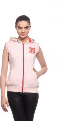 Cashewnut Sleeveless Solid Women's Reversible Sweatshirt