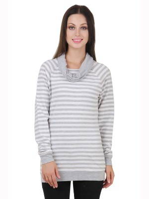 Cherymoya Full Sleeve Striped Women's Sweatshirt