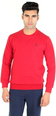 Bongio Full Sleeve Self Design Men's Sweatshirt