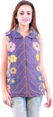 Dove Sleeveless Printed Women,s Sweatshirt