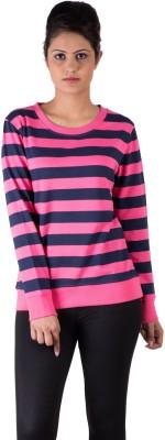 De Moza Full Sleeve Striped Women's Sweatshirt
