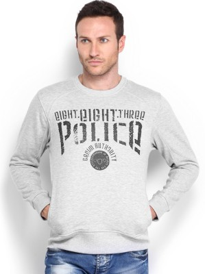 883 Police Full Sleeve Solid Men,s Sweatshirt
