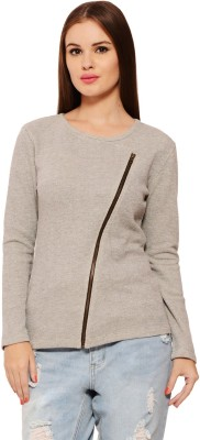 Feneto Full Sleeve Solid Women's Sweatshirt