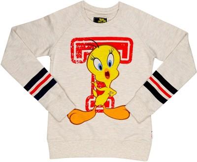 Tweety Full Sleeve Printed Girl's Sweatshirt