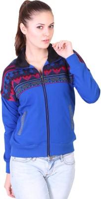 Miss Grace Full Sleeve Solid, Printed Women's Sweatshirt