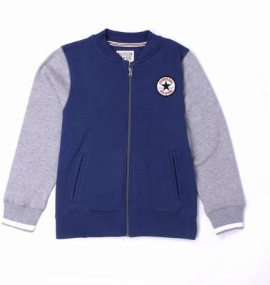 Converse Full Sleeve Solid Boy,s Sweatshirt