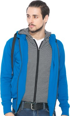 Status Quo Full Sleeve Solid Men's Reversible Sweatshirt