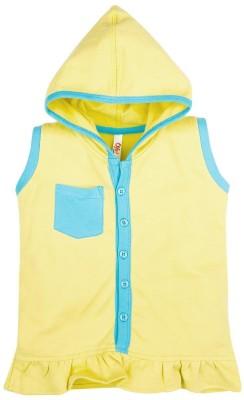 Oye Sleeveless Solid Girl's Sweatshirt