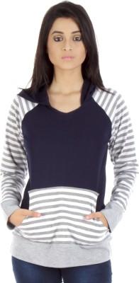 Vea Kupia Full Sleeve Striped Women,s Sweatshirt