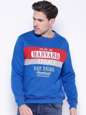 Harvard Full Sleeve Printed Men's Sweatshirt