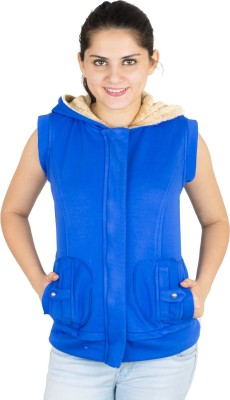 Kaaf Fashion Sleeveless Solid Women's Sweatshirt