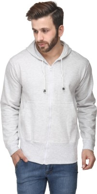 B&W Full Sleeve Solid Men's Sweatshirt