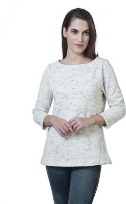 Rute Full Sleeve Self Design Women's Sweatshirt
