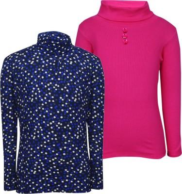 Bio Kid Full Sleeve Printed, Solid Girl's Sweatshirt