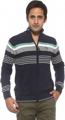Spykar Full Sleeve Striped Men's Sweatshirt