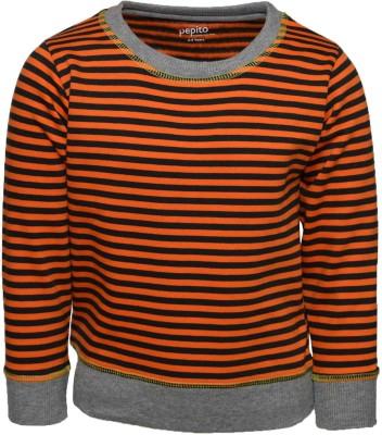 Pepito Full Sleeve Striped Boy's Sweatshirt