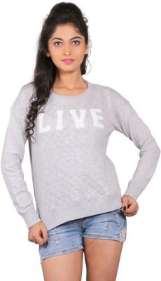 LondonHouze Full Sleeve Woven Women's Sweatshirt