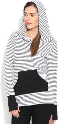 Colors Couture Full Sleeve Striped Women's Sweatshirt