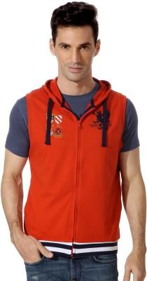 Peter England Sleeveless Solid Men's Sweatshirt