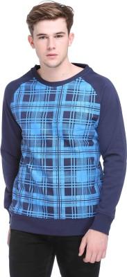 CLUB YORK Full Sleeve Checkered Men's Sweatshirt