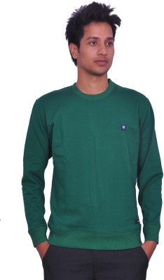 LEAF Full Sleeve Solid Mens Sweatshirt