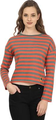 United Colors of Benetton Full Sleeve Striped Womens Sweatshirt