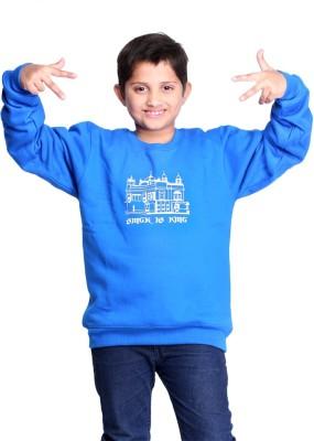 Clotone Full Sleeve Printed Boys Reversible Sweatshirt