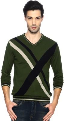 Van Heusen Full Sleeve Geometric Print Men,s Sweatshirt