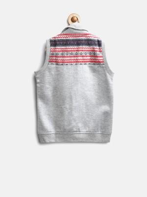 Yellow Kite Sleeveless Solid Boy's Sweatshirt