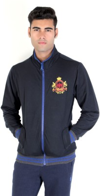 Bongio Full Sleeve Self Design Men's Reversible Sweatshirt