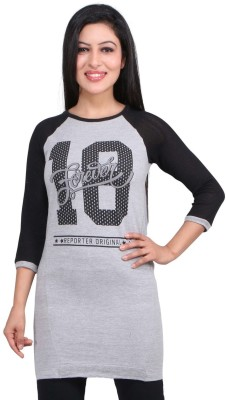 LondonHouze 3/4 Sleeve Printed Women's Sweatshirt