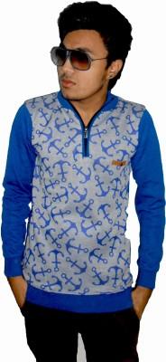 The Blueprint Fashion Hub Full Sleeve Embroidered Men's Sweatshirt