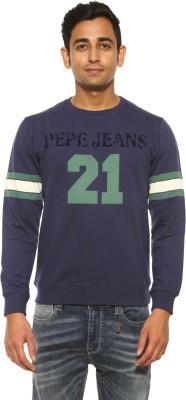 Pepe Full Sleeve Solid Men's Sweatshirt