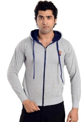 High Hill Full Sleeve Polka Print Men's Sweatshirt