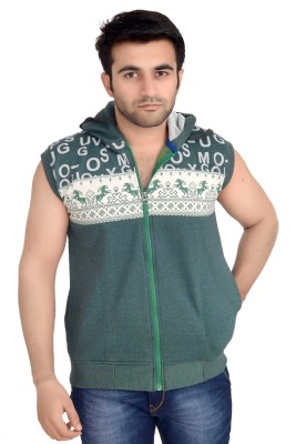 High Hill Sleeveless Graphic Print Men's Sweatshirt